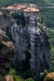 Amazing landscape at Meteora. Trikala region, Greece Royalty Free Stock Photos