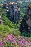 Amazing landscape at Meteora Royalty Free Stock Images