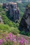Amazing landscape at Meteora. Trikala region, Greece Royalty Free Stock Images
