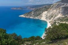 Landscape of Myrtos beach, Kefalonia, Ionian islands, Greece Stock Images