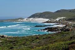 Cape of Good Hope in the Atlantic Ocean, south of Cape Town, South Africa. Royalty Free Stock Photography