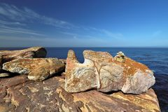 Cape of Good Hope in the Atlantic Ocean, south of Cape Town, South Africa. Royalty Free Stock Photos