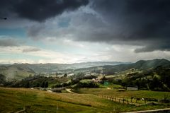 Amazing Landscape Photo of Boyacá ,Colombia Stock Image