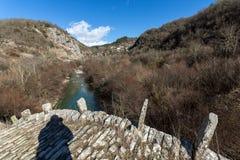 Landscape of Plakidas Bridge, Pindus Mountains, Zagori, Epirus, Greece Stock Image