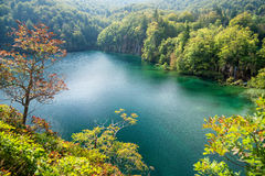 Amazing landscape of Plitvice Lakes Royalty Free Stock Photo