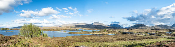 The amazing landscape of Rannoch Moor next to Glencoe Stock Images