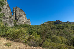 Amazing landscape of Rocks formation near Meteora, Greece. Amazing landscape of Rocks formation near Meteora, Thessaly, Greece Royalty Free Stock Photos
