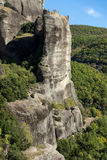 Amazing landscape of Rocks formation near Meteora, Greece Royalty Free Stock Images