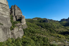 Amazing landscape of Rocks formation near Meteora, Greece. Amazing landscape of Rocks formation near Meteora, Thessaly, Greece Stock Images