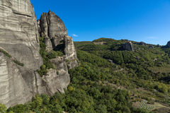 Amazing landscape of Rocks formation near Meteora, Greece. Amazing landscape of Rocks formation near Meteora, Thessaly, Greece Royalty Free Stock Photography
