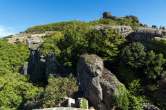 Amazing landscape of Rocks formation near Meteora, Greece. Amazing landscape of Rocks formation near Meteora, Thessaly, Greece Stock Photos