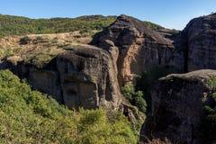 Amazing landscape of Rocks formation near Meteora, Greece. Amazing landscape of Rocks formation near Meteora, Thessaly, Greece Stock Photo