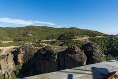 Amazing landscape of Rocks formation near Meteora, Greece. Amazing landscape of Rocks formation near Meteora, Thessaly, Greece Stock Image