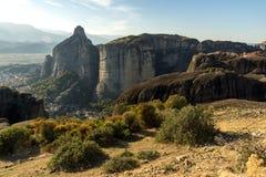 Amazing landscape with Rocks formation near Meteora, Greece. Amazing landscape with Rocks formation near Meteora, Thessaly, Greece Stock Photos