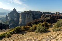 Amazing landscape with Rocks formation near Meteora, Greece. Amazing landscape with Rocks formation near Meteora, Thessaly, Greece Royalty Free Stock Image