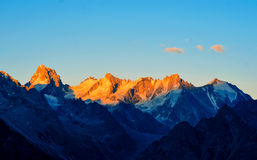 Amazing landscape of rocky mountains and blue sky, Caucasus, Russia royalty free stock photos