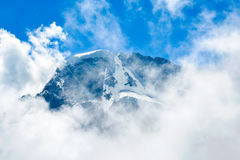 Amazing landscape of rocky mountains and blue sky, Caucasus, Russia royalty free stock image
