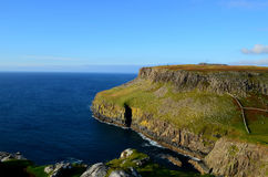 Amazing Landscape and Sea Cliffs at Neist Point in Scotland Royalty Free Stock Images