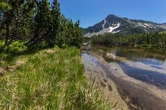 Amazing Landscape of Sivrya peak and Banski lakes, Pirin Mountain Royalty Free Stock Photo