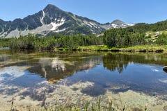 Amazing Landscape of Sivrya peak and Banski lakes, Pirin Mountain Stock Image