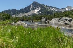 Amazing Landscape of Sivrya peak and Banski lakes, Pirin Mountain Royalty Free Stock Images