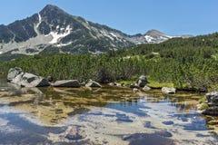Amazing Landscape of Sivrya peak and Banski lakes, Pirin Mountain Royalty Free Stock Photos