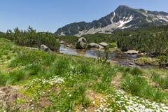 Amazing Landscape of Sivrya peak and Banski lakes, Pirin Mountain Royalty Free Stock Image