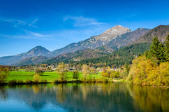 Amazing landscape in Slovenia stock photo