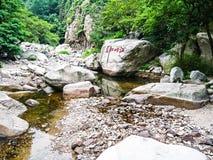 Amazing landscape of stones with vegetation Stock Image