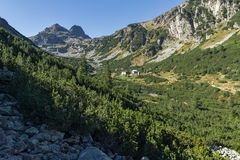 Amazing Landscape to Malyovishka river Valley and Malyovitsa peak, Rila Mountain Stock Images