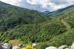 Amazing Landscape to  Rhodopes mountain from Asen`s Fortress,  Bulgaria Royalty Free Stock Photo
