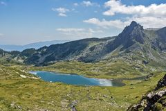 Landscape of The Twin lake, The Seven Rila Lakes, Bulgaria Stock Images