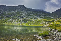 Amazing Landscape of The Twin lake, The Seven Rila Lakes Stock Images
