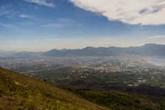 Amazing landscape view seen from Vesuvius stock photos