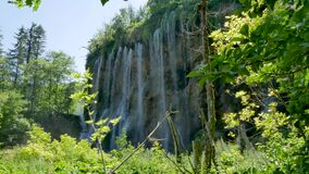 Amazing Landscape with Waterfalls at Plitvice Lakes National Park, Croatia