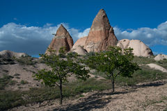 Amazing landscapes with rock in Cappadocia. Stock Photo