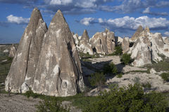 Amazing landscapes with rock in Cappadocia. Royalty Free Stock Photos