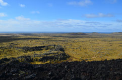 Amazing Lava Field As Far as the Eye Can See Stock Photography