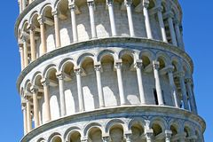 Amazing leaning tower of Pisa in Piazza dei Miracoli 9 Stock Photo