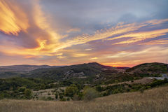 Amazing light at sunset Royalty Free Stock Photo