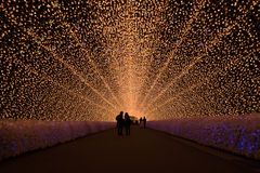 Amazing light tunnel Stock Photos