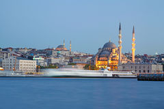 Amazing lighting Istanbul after sunset Stock Photos