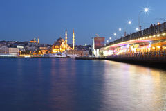 Amazing lighting Istanbul after sunset Royalty Free Stock Image