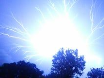 Amazing Lightning Strike/ Shocking stock image