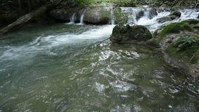 Amazing Maekamin Waterfall in Thailand stock footage