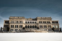 Amazing majestic and expensive house at winter Lake Geneva , WI , USA 01/27/2019 stock images