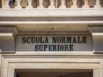 Amazing mansion at Cavalieri Square in Pisa - The Carovana Palace called Scuola Normale Superiore - Tuscany Italy royalty free stock images