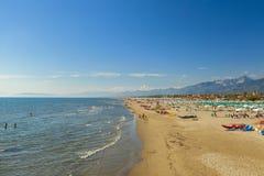 Marina di pietrasanta beach view royalty free stock photography