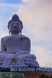 Amazing Massive white marble Buddha statue, the famous tourist a Stock Photography