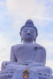 Amazing Massive white marble Buddha statue, the famous tourist a Royalty Free Stock Photography